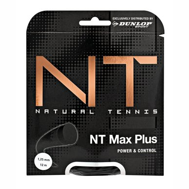 Tennissnaar Dunlop NT Max Plus Black 1,25mm/12m