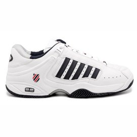 Chaussures de Tennis K Swiss Men Defier Rs White Dress Bluex Fiery Red