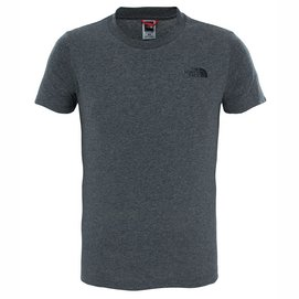 Kinder T-Shirt The North Face Youth S/S Simple Dome Tee TNF Medium Grey Heather-XS