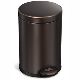 Pedaalemmer simplehuman Round Step Can Brons 4,5L