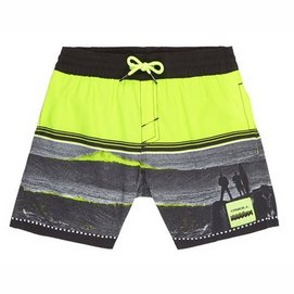 Badehose O'Neill The Point Black Yellow Jungen