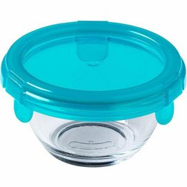 Food Container Pyrex My First Pyrex Round Transparent Blue 0.2 L