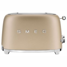 Broodrooster Smeg TSF01 2x2 50 Style Champagne Mat