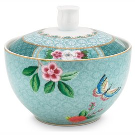 Suikerpot Pip Studio Blushing Birds Blue 300 ml (Set van 4)