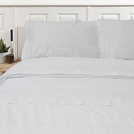 Drap et Taies Town&Country Camilla White-160 x 260 cm (1-persoon)