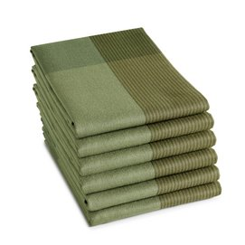 Theedoek DDDDD Blend Olive Green (set van 6)