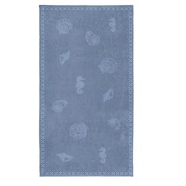 Strandtuch Seahorse Shells Jeans