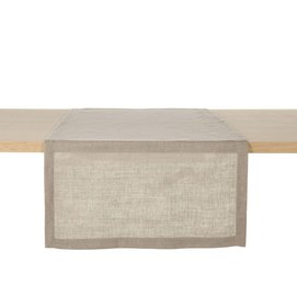 Table Runner Libeco Polylin Washed Canelle Linen (Set of 2)-51 x 144 cm