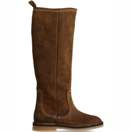Shabbies Amsterdam Women Boot 2 CM Waxed Suede Brown