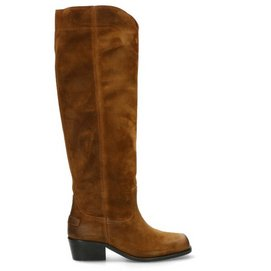 Shabbies Amsterdam Women Boot 4,5 CM Waxed Suede Brown