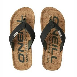 Slipper Oneill Men Chad Fabric Sandals Black Out