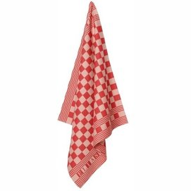 Theedoek Elias Pompdoek Red (set van 2)