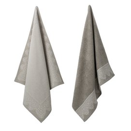 Theedoek Elias Lace Grey (set van 2)