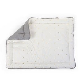 Boxkleed Childhome Gold Dots Grey (75 x 95 cm)