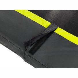 Trampoline EXIT Toys Silhouette Rectangular 305 x 214 Black Safetynet