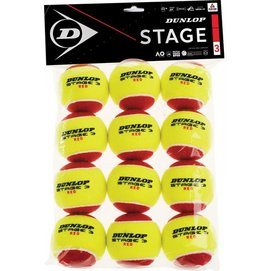 Tennisball Dunlop Stage 3 Red (12 Polybag) 2020
