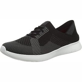 Sneaker FitFlop Marble Knit Sneakers Black Charcoal Grey