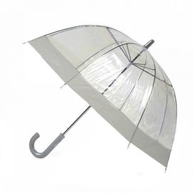 Paraplu Blooming Brollies Clear Dome Grey