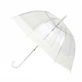 Paraplu Blooming Brollies Clear Dome White