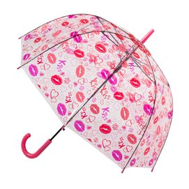 Paraplu Blooming Brollies Clear Dome Kiss