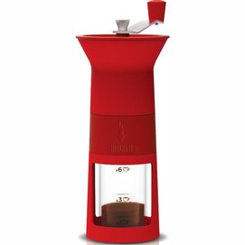 Koffiemolen Bialetti Coffee Grinder Manual Red