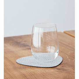 Coaster Lind DNA Glass Mat Curve Hippo White Grey (Set of 4)
