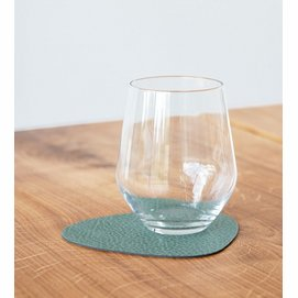 Coaster Lind DNA Glass Mat Curve Hippo Pastel Green (Set of 4)