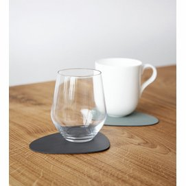 Coaster Lind DNA Glass Mat Double Curve Cloud Nupo Anthracite Pastel Green (Set of 4)