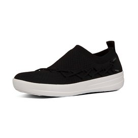 Sneaker FitFlop Corsetted Slip-On Sneaker Poly Black