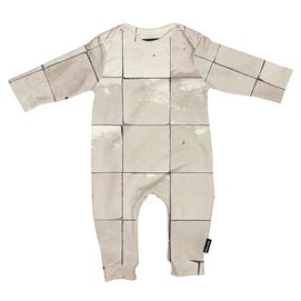 Jumpsuit SNURK Baby Tiles Pearl White