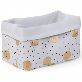 Opbergmand Childhome Canvas Mand Gold Dots