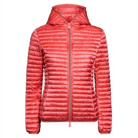 Jas Save The Duck Women D3362W IRIS6 Hooded Cranberry Red