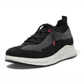 FitFlop Men Frey Knit Sneakers Black Mix-Schoenmaat 46