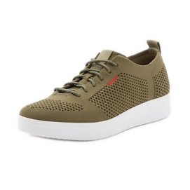 FitFlop Rally Tonal Knit Sneakers Olive Green Damen-Schuhgröße 36