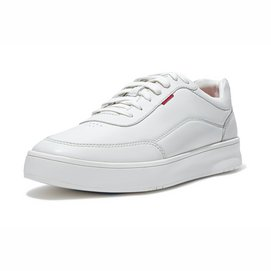 FitFlop Men Rally X Leather Sneakers White-Schoenmaat 45