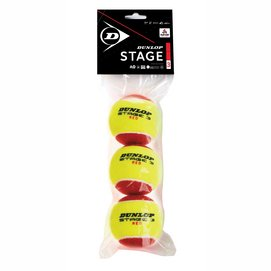 Tennisbal Dunlop Stage 3 Red (3 Polybag) 2020