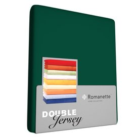 Hoeslaken Romanette Forest Green (Double Jersey)-2-persoons (140/150 x 200/210/220 cm)