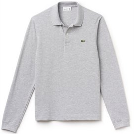 Polo Lacoste Longsleeve Slim Fit Silver Chine-2