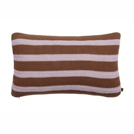 Sierkussen Marc O'Polo Structure Knit Toffee brown (30 x 50 cm)