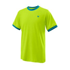 Tennisshirt Wilson Boys Competition Crew Lime Popsicle