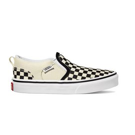 Vans Youth Asher Checkers Black Natural-Schoenmaat 34