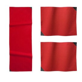 Combi Set DDDDD Triangle Red Table Runner Placemat