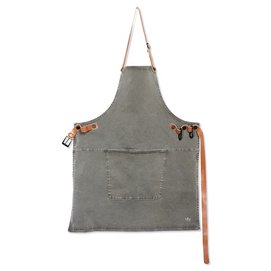Apron Dutchdeluxes Amazing Apron BBQ Style Canvas Grey Green