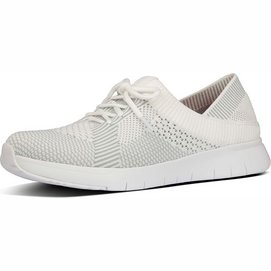 Marble Knit FitFlop Sneakers White Storm Grey-Schuhgröße 40
