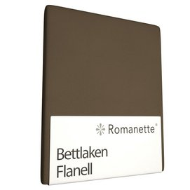 Bettlaken Romanette Taupe (Flanell)-150 x 250 cm (1-person)