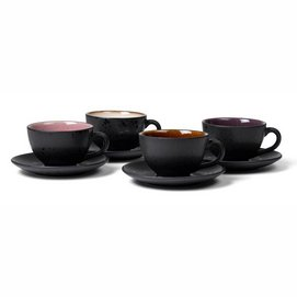 Kaffeetasse Bitz Black Light 240 ml (4-teilig)