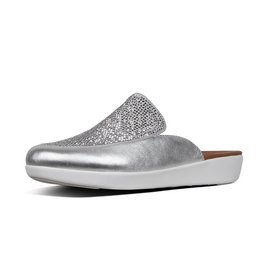 FitFlop Serene™ Crystalled Mule Silver